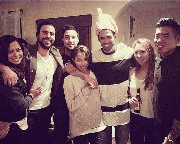 Le 02 Décembre 2013: à la fête d'anniversaire de son ami Bille Woodruff.