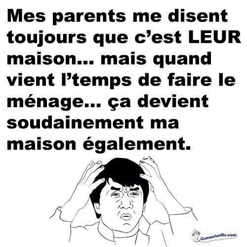 logique des parents.
