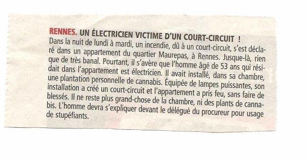 Mauvais électricien et mauvais trafiquant !!!