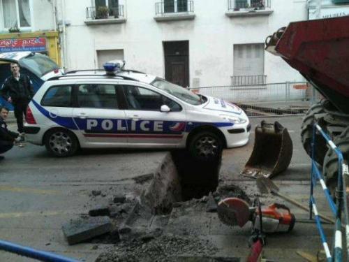 Pour le rire, les travaux à Brest et la police !!! MDR !!!!