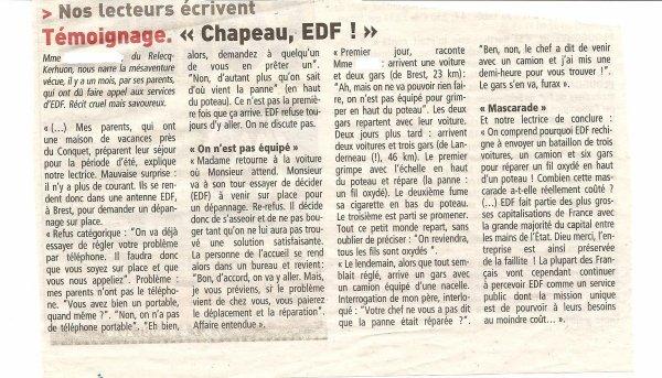 Un petit coup pour EDF