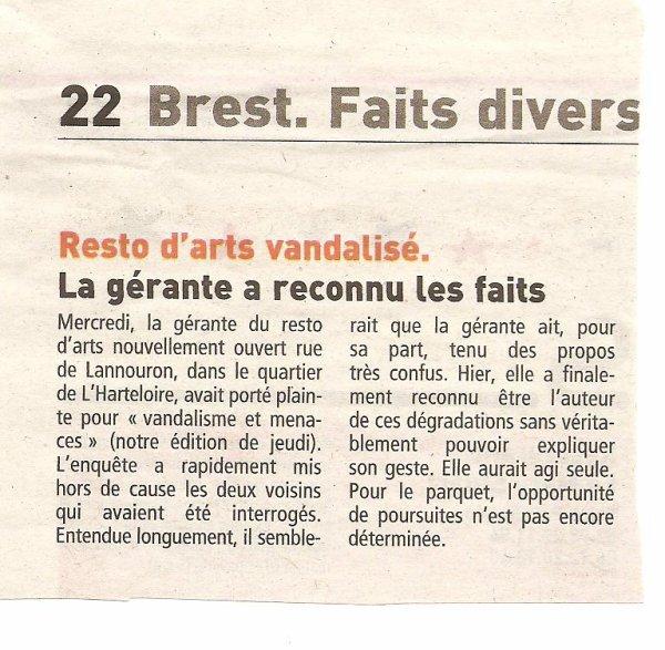 Islamophobe à Brest??? Non, un coup de pub malheureux!!!