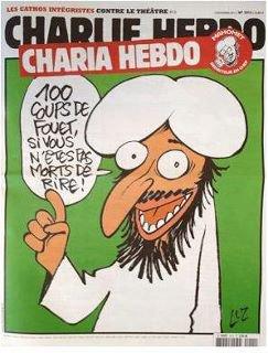 La liberté d' expression ! Solidarité avec Charlie Hebdo dont les locaux ont brûlé cette nuit pour avoir publié cette couverture!!