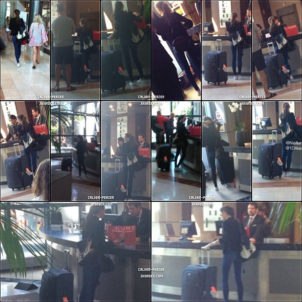 11.07.2014 Eleanor a l'accueil d'un hôtel a Madrid