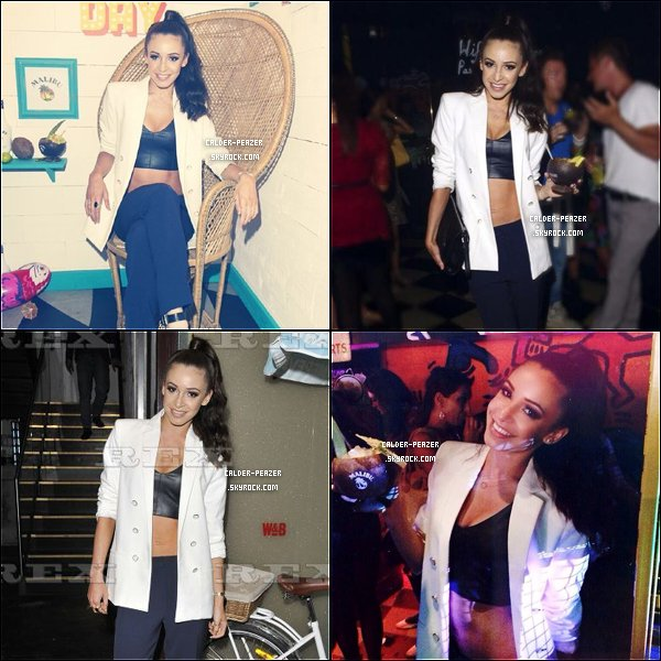08.07.2014 Danielle s'est rendue au Malibu Airways National Piña Colada Day Party, au Disco Kingly, à Londres.
