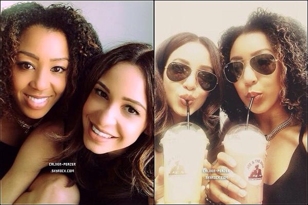 30.07.2014 Danielle sortant dans les rues de Londres avec son amie Zoe