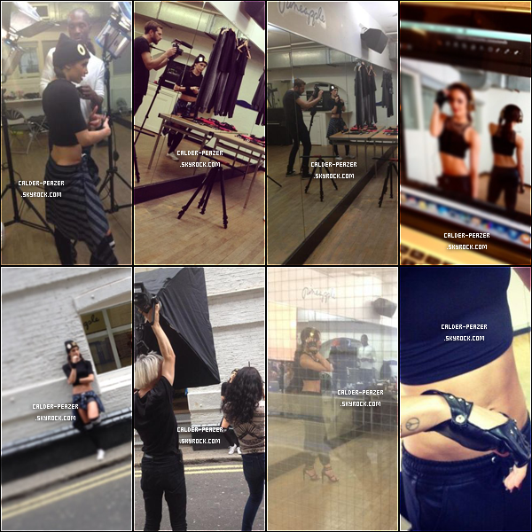 05.08.2014 Coulisse du photoshoot de Danielle pour Claire's