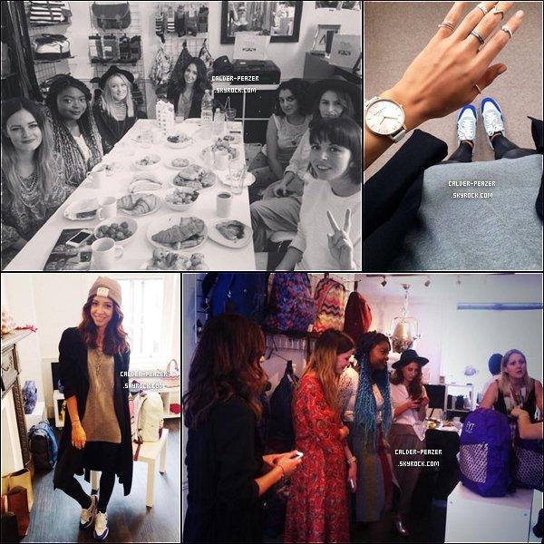 28.08.2014 Danielle et d'autre blogueurs allant voir la nouvelle collection de la marque  AW14