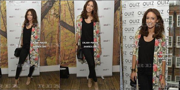 01.09.2014 Danielle assitant à la pré Fashion Week de Londres