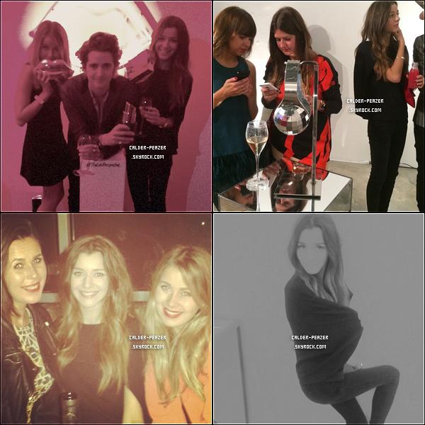 13.09.2014 Eleanor et ses amis Max et Alana étaient présent à la Fashion week de Londres