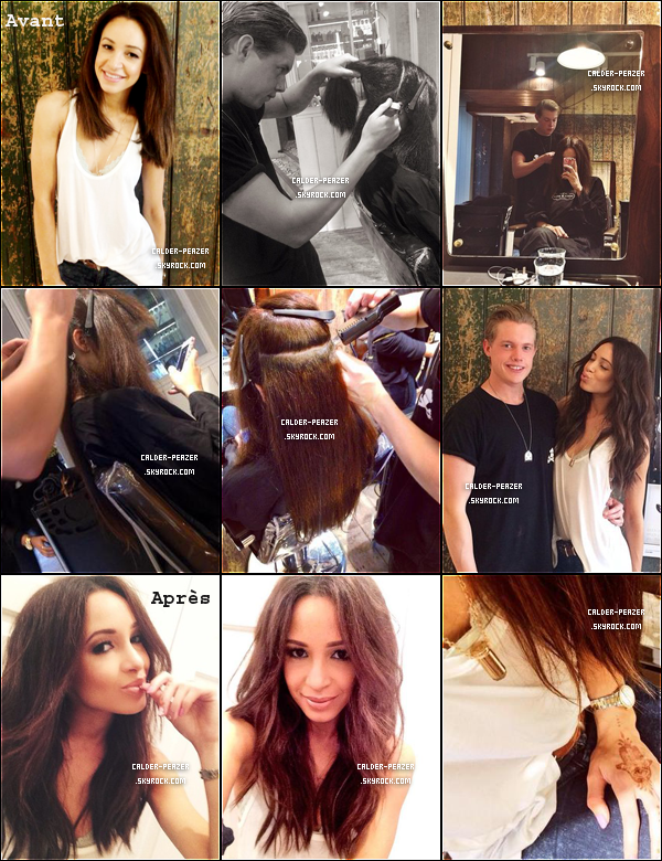 19.09.2014 Danielle allant chez le coiffeur pour se faire poser des rajouts !