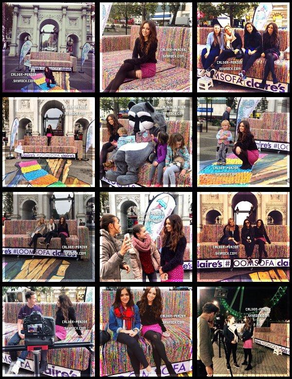 30.10.2014 Danielle participant a un événement organisé par Claire's à Londres