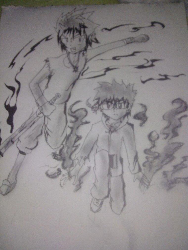 Deux des personnage principal de mon manga *-*
