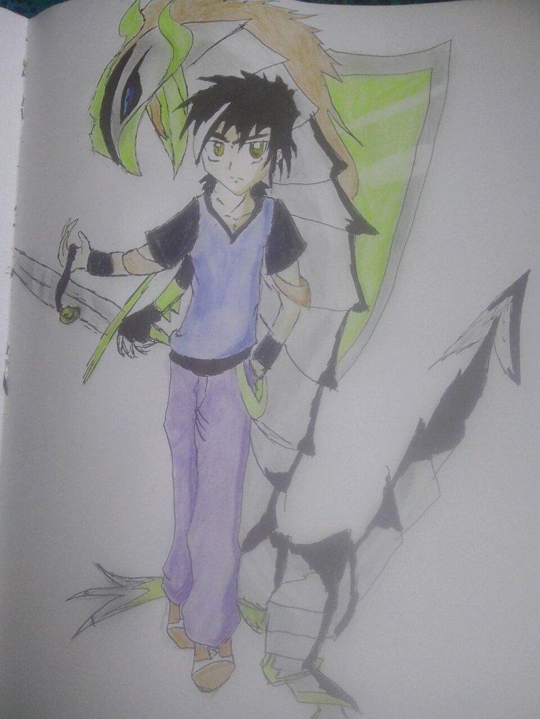 Nouveau dessin du heros de mon manga by me