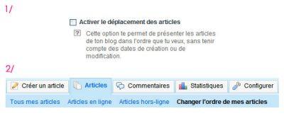 BLOG : Déplace tes articles !