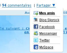 BLOG: Fais tourner tes articles sur Skyrock, Facebook, MySpace, Twitter et Messenger !
