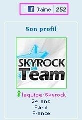 BLOGS & PROFILS : Ce que tu aimes sur Skyrock se retrouve sur Facebook !