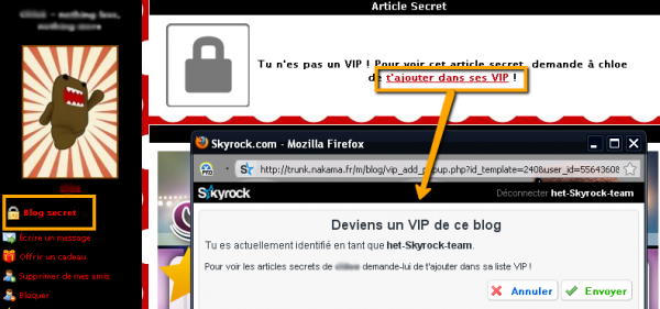 BLOG : Rends ton blog secret !