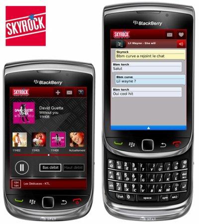 Skyrock débarque sur BlackBerry!