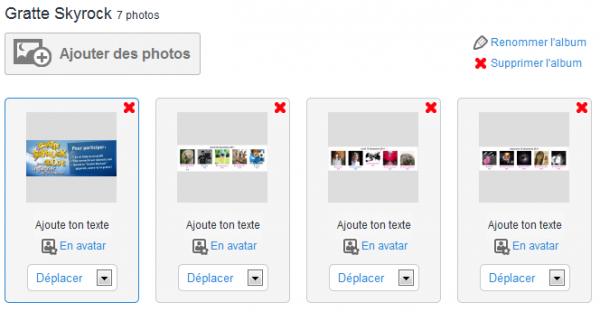Importe tes photos sur ton profil !
