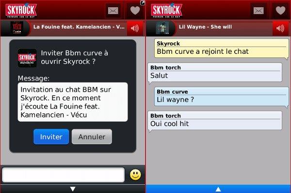 L'appli Skyrock live sur BlackBerry !