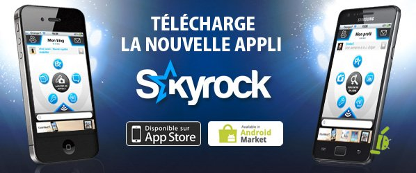 Skyrock.com sur ton mobile !