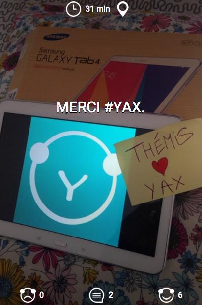 Thémis, notre gagnante du concours #YaxWTF a reçu sa tablette.