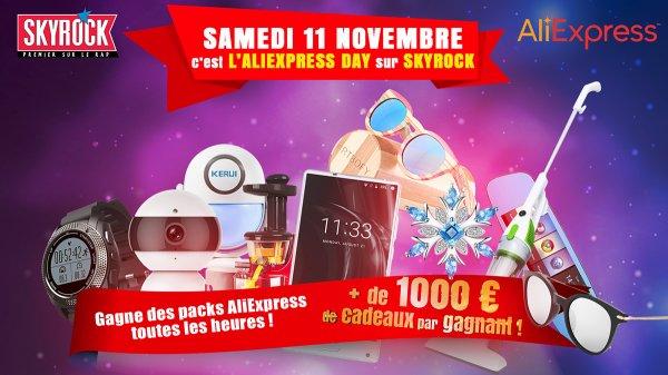 Le 11/11 c'est l'ALIEXPRESS DAY sur Skyrock avec AliExpress !