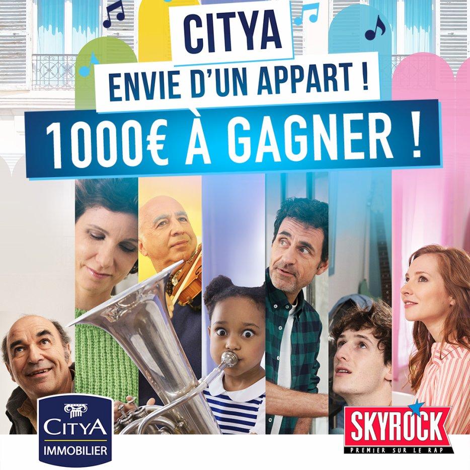 1000¤ à gagner avec Citya Immobilier et Skyrock !