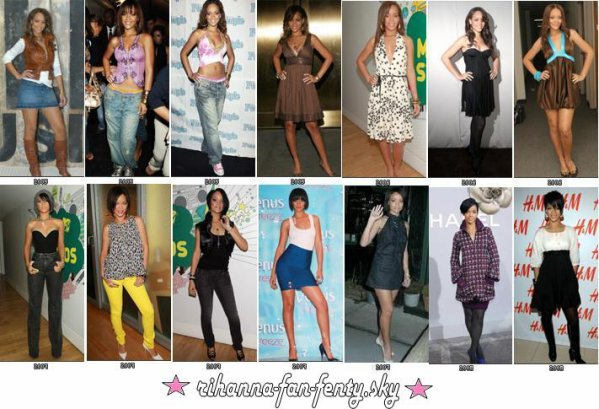 Rihanna style evolution rihanna navy 4 ever - Evolution de la mode ...