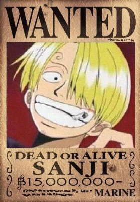 Wanted sanji blog de one piece origins - One piece 2 ans plus tard wanted ...