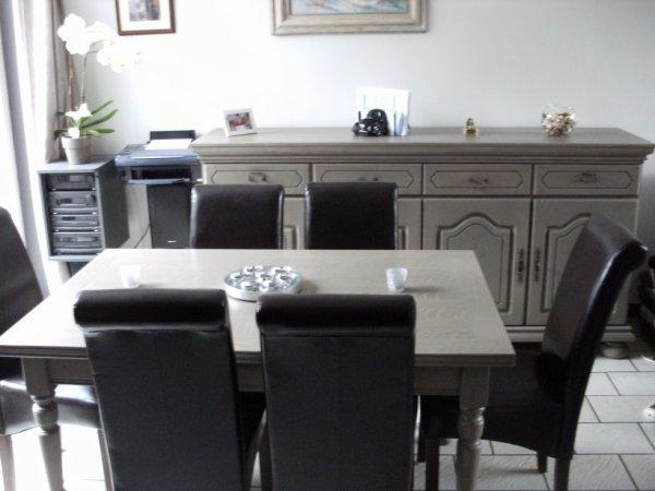 ancienne salle a manger en ch 234 ne fonc 233 restaur 233 e en c 233 ruse grise nouvelle tendance mobilier