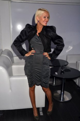 Tatiana-Laurens DELARUE in 'Prestige' Restaurant Opening Party 13 octobre 2011.