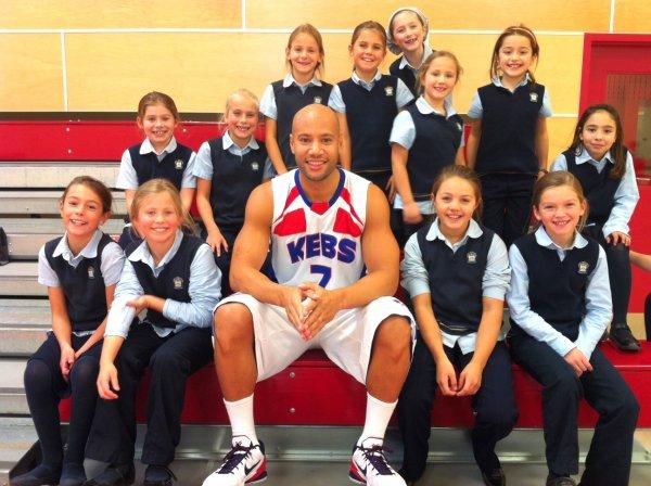 Xavier DELARUE in Ecole de Berchmans (Canada le 12/10/2012)