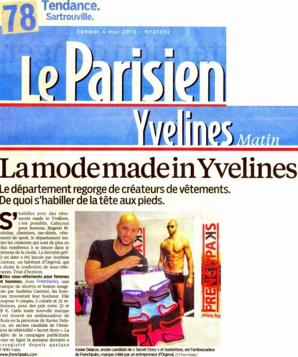 Xavier DELARUE dans Le Parisien pour Frenchpaks