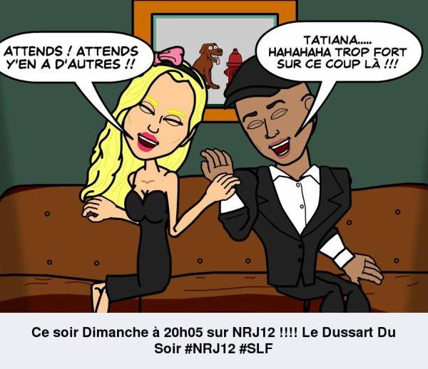 Tatiana-Laurens sur NRJ12 dans le Dussart Du Soir 20h05