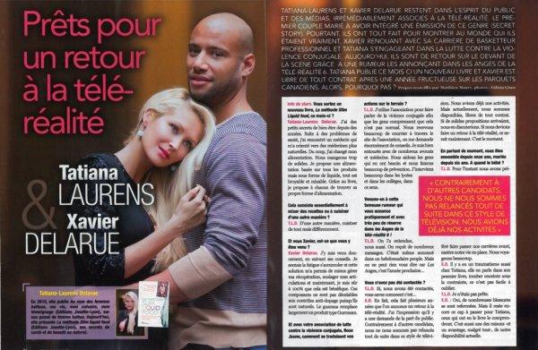 "Tatiana-Laurens & Xavier Delarue Magazine ""Info De Stars"" (N°1 / Décembre2013)"