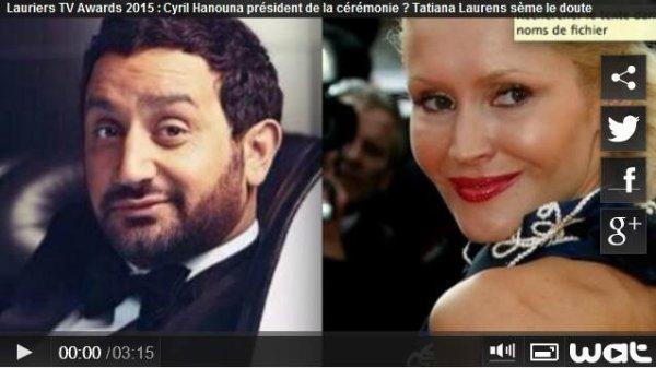 Cyril Hanouna président de la cérémonie ? Tatiana-Laurens sème le doute (vidéo MCE)