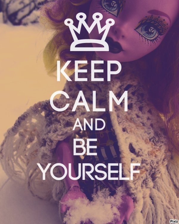 Sois toi même...