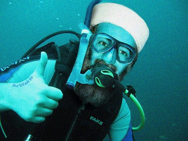 La photo d'Oussama Ben Laden jeté en mer - image