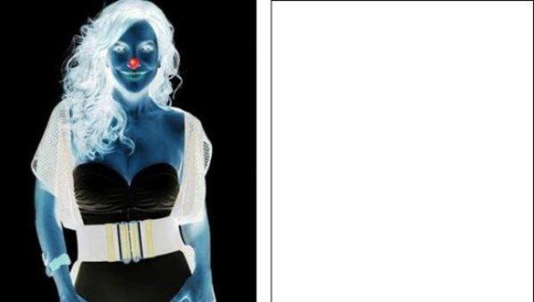 Illusion optique: la femme sur l'image négative - 4 images