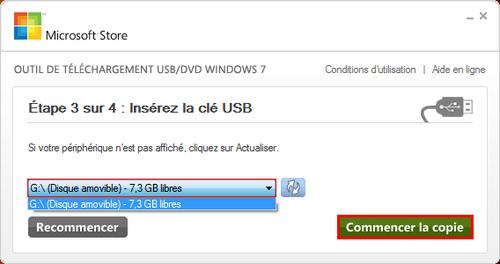 Tutoriaux  » (Windows7) Creer une clé bootable en 2min !!!!!