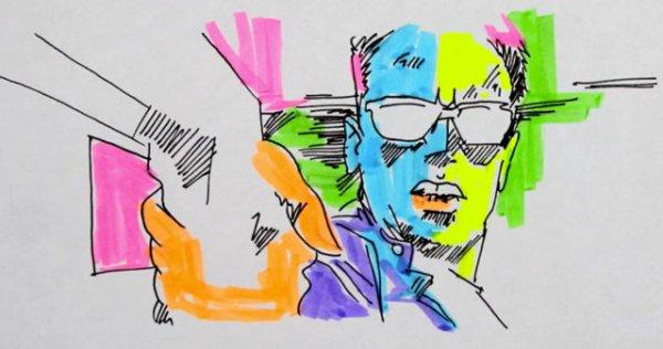 Schwarzenegger Meets A-ha's 'Take on Me' Meets Neon Markers