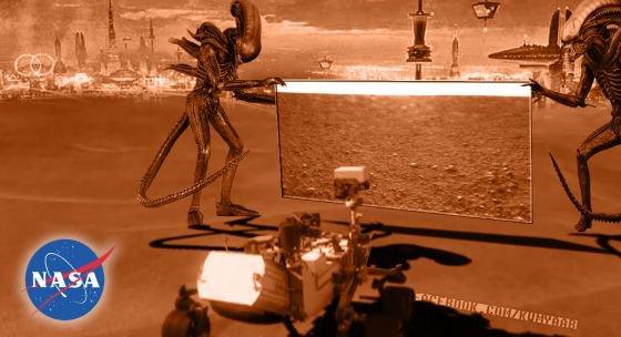 Pendant ce temps là, sur Mars ....