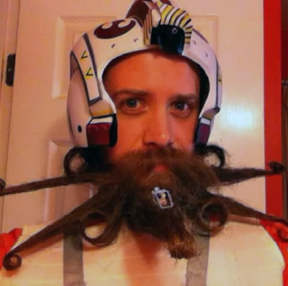 La barbe X-Wing de Star Wars