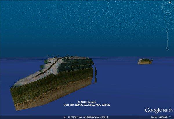 Visitez l'épave du Titanic en 3D avec Google Earth