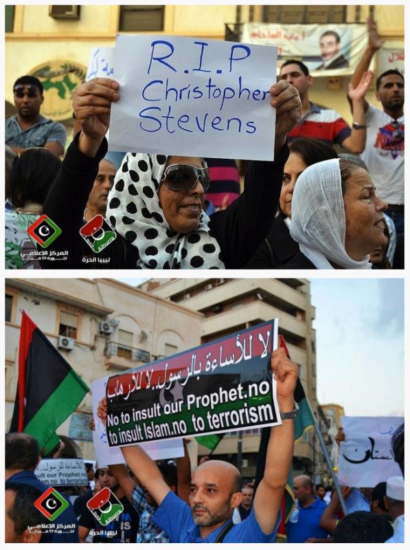 15 photos ou les libyens demandent pardon au peuple américain