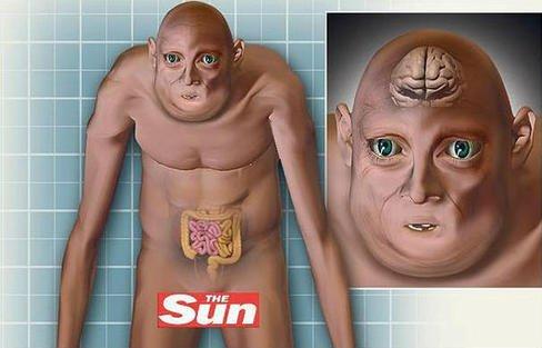 Voici à quoi ressemblera l'homme en 3012...