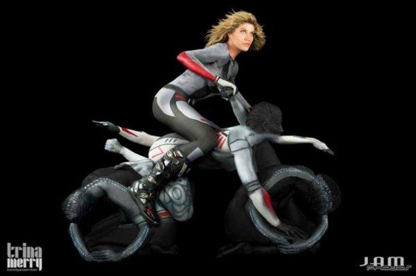 Des motos humaines