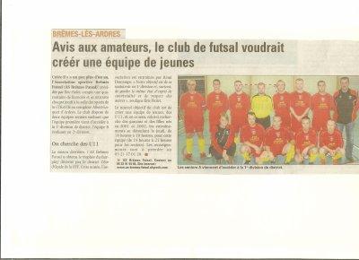 ATICLE DE PRESSE DU 19 OCTOBRE 2011